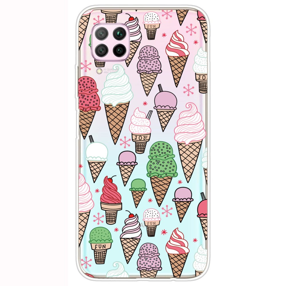 Husa Huawei P40 Lite model i Love Icecream, Silicon, TPU, Viceversa Multicolor
