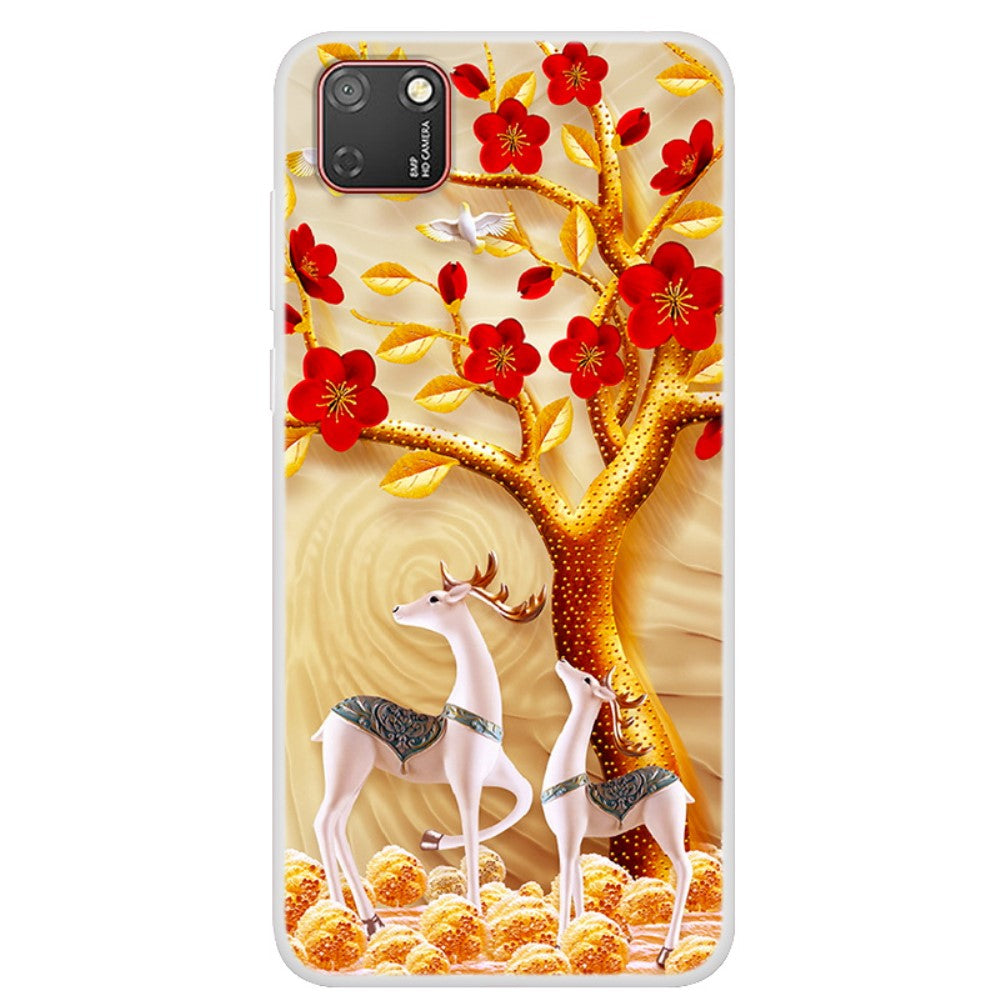 Husa Huawei Y5P model Reindeers Family, Silicon, TPU, Viceversa Multicolor