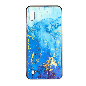 Husa Samsung Galaxy A10 model Glass Marble , Antisoc, Viceversa Albastru