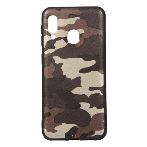 Husa Samsung Galaxy A20e model Camouflage Brown,TPU, Antisoc, Viceversa