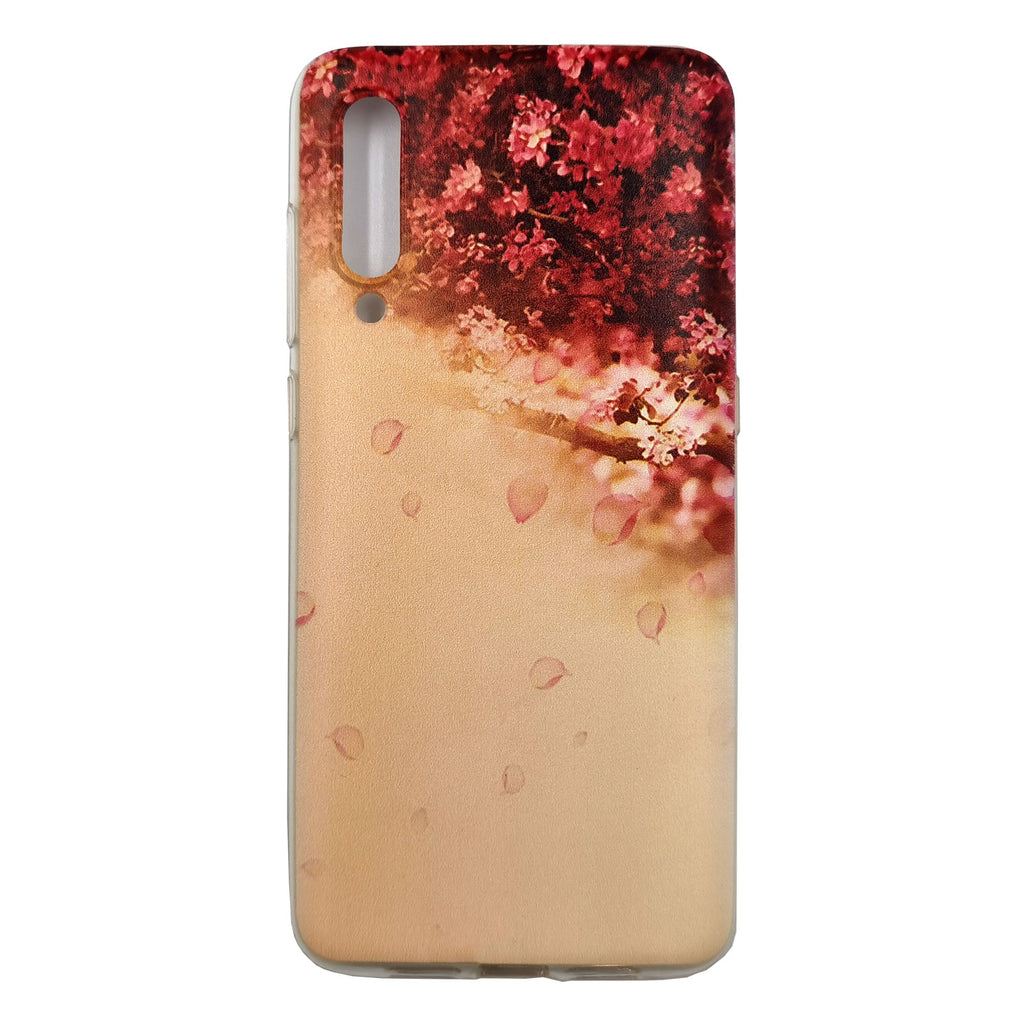 Husa Xiaomi Mi 9 model Red Flowers, Silicon, TPU, Viceversa Multicolor