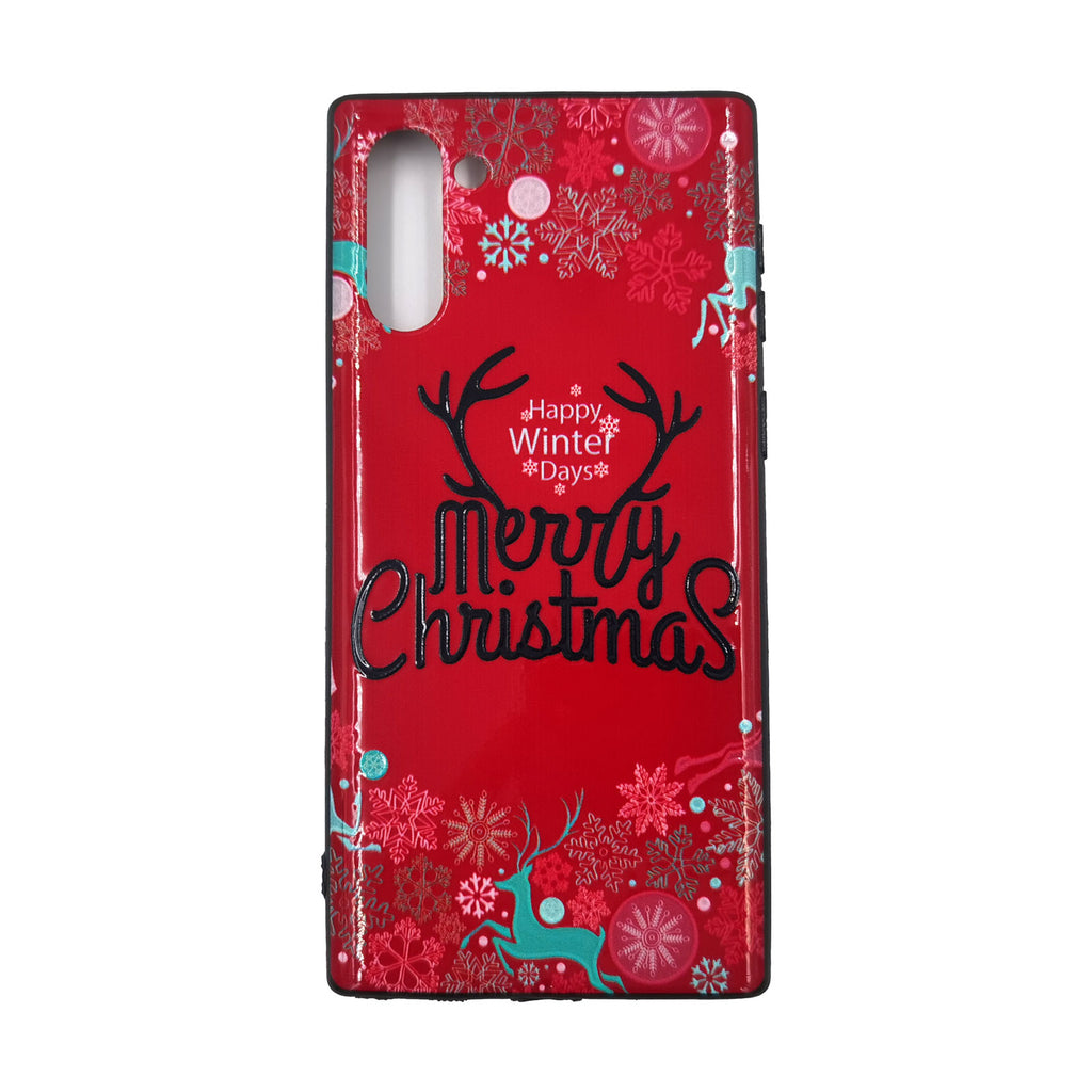 Husa Craciun Samsung Galaxy Note 10 / Note 10 5G Model Winter Days, TPU, Viceversa Rosu