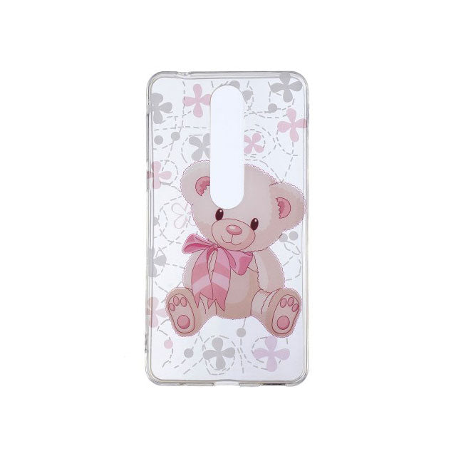 Husa silicon Nokia 6.1 2018 Model Sweet Bear, Antisoc, TPU, Viceversa Multicolor