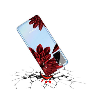 Husa Samsung Galaxy A31 model Gerbera, Silicon, Antisoc, Viceversa Transparent/Rosu