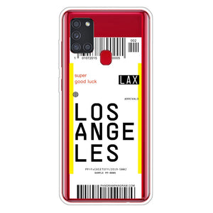 Husa Samsung Galaxy A51 model Dream Ticket Los Angeles, Silicon, Antisoc, Viceversa Multicolor