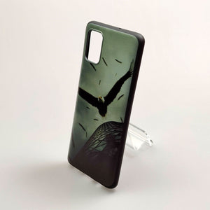 Husa Samsung Galaxy A51 model Eagle, Silicon, Antisoc, Viceversa Negru/Verde
