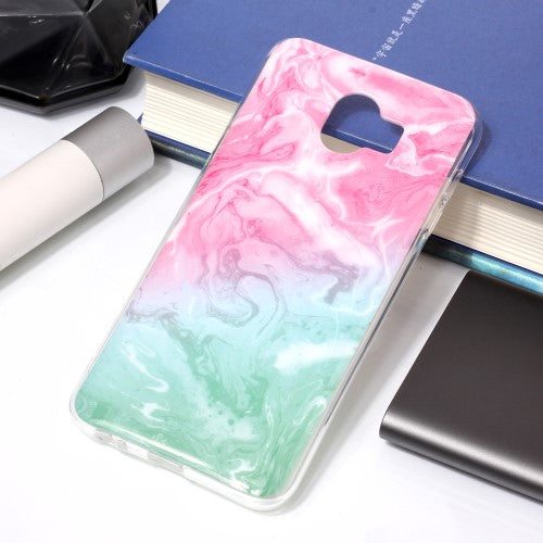 Husa Samsung Galaxy J4 model Water Marble, Antisoc, TPU, Viceversa