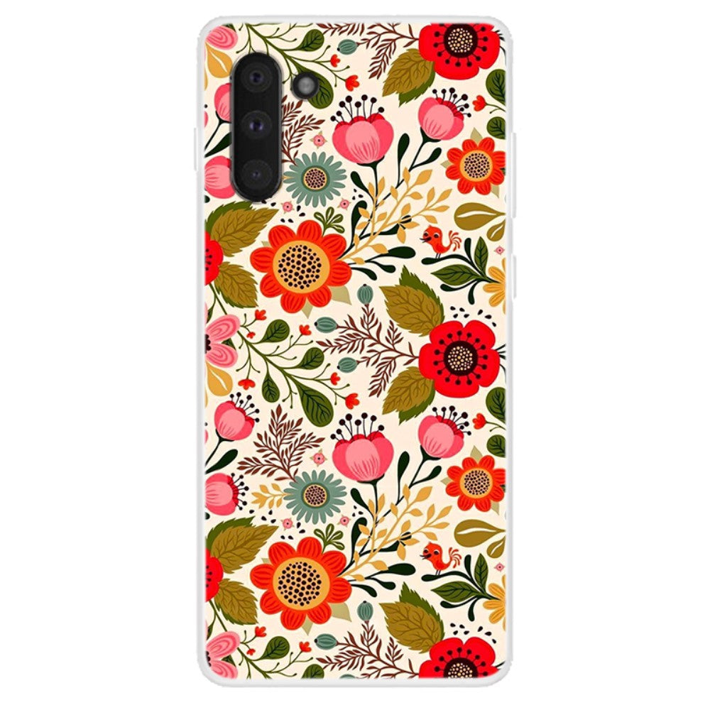 Husa Samsung Galaxy Note 10 model Retro Flowers, Silicon, TPU, Viceversa Multicolor