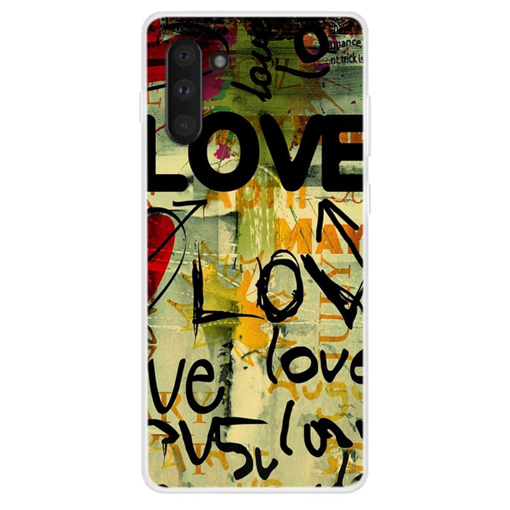 Husa Samsung Galaxy Note 10 model Love Graffiti, Silicon, TPU, Viceversa Multicolor