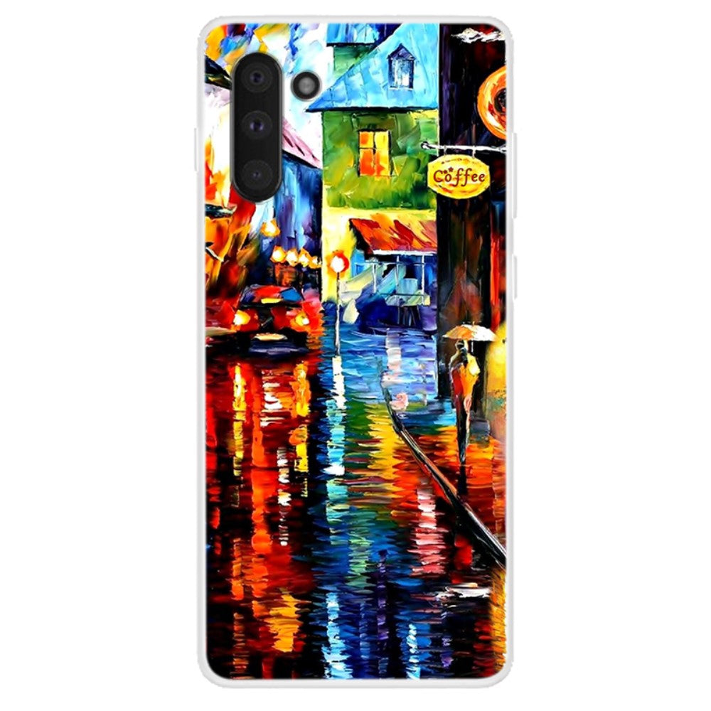 Husa Samsung Galaxy Note 10 model Coffee Shop, Silicon, TPU, Viceversa Multicolor