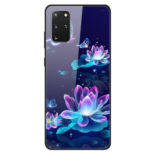 Husa Samsung Galaxy S20 Plus model Glass Colorfull Lotus, Antisoc, TPU Hybrid, Viceversa Multicolor