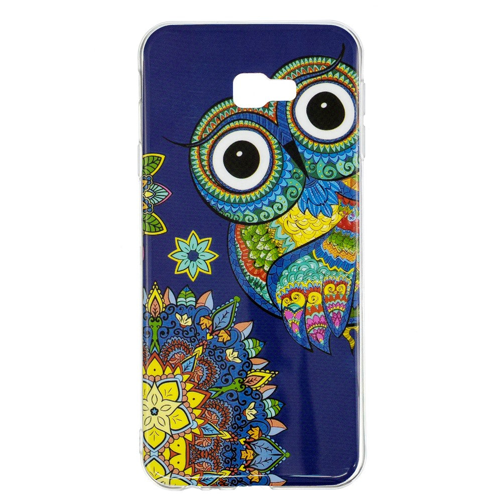 Husa Samsung Galaxy J4 Plus Model Mandala Owl, Fosforescenta, Antisoc, Viceversa Multicolor
