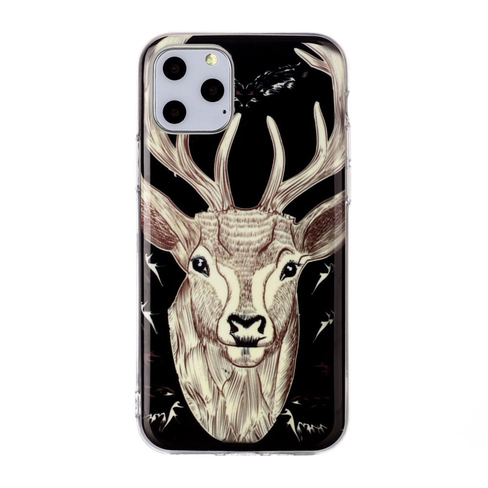 Husa silicon Apple iPhone 11 Pro Fosforescent model Elk, Silicon, TPU Viceversa Multicolor