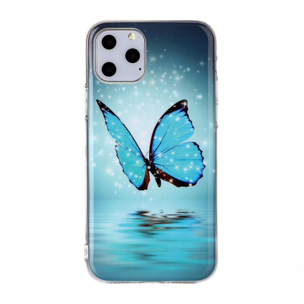 Husa silicon Apple iPhone 11 Pro Fosforescent model Butterfly, Silicon, TPU Viceversa Multicolor