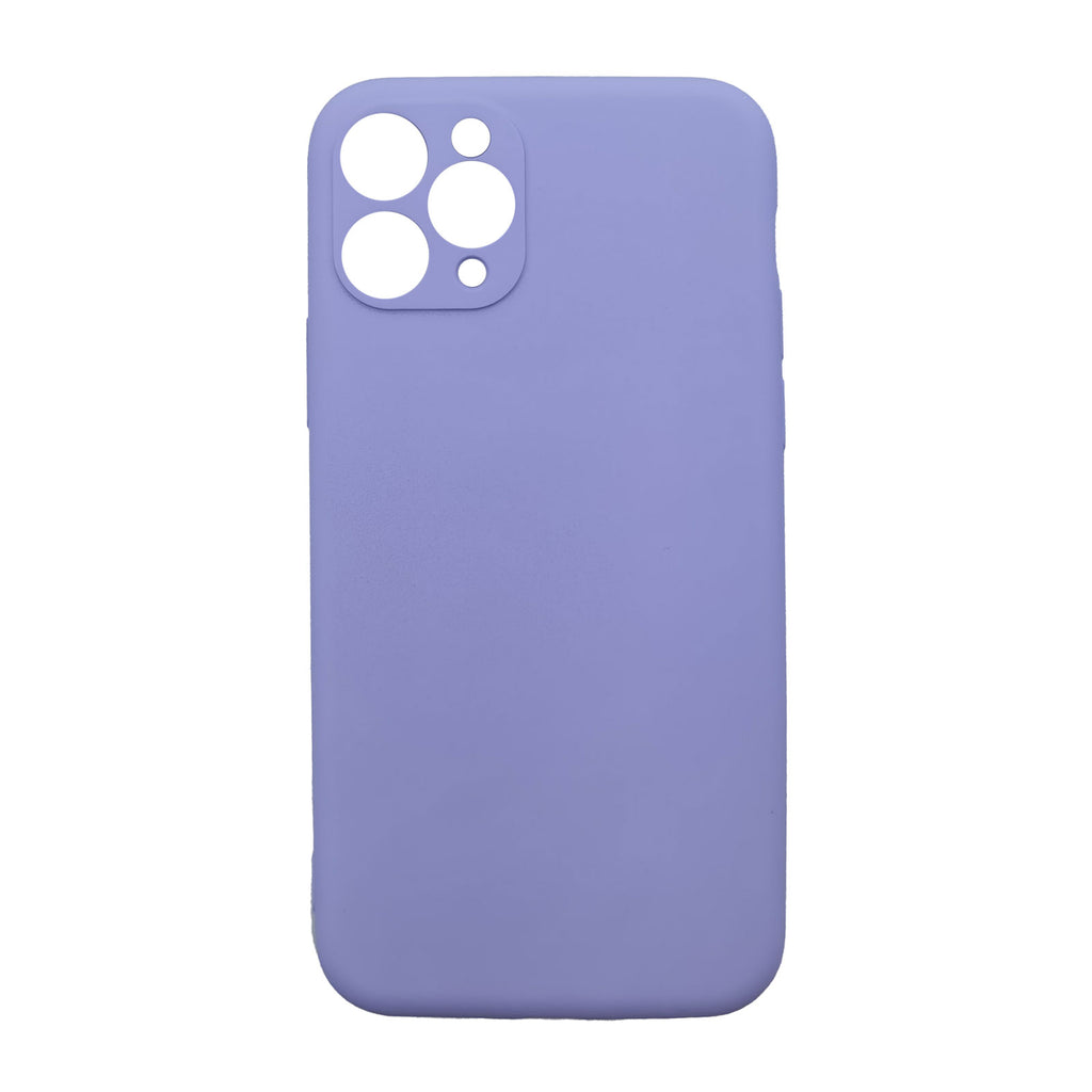 Husa silicon Apple iPhone 11 Pro model Mat cu Protectie Camera, Antisoc, TPU, Viceversa Mov