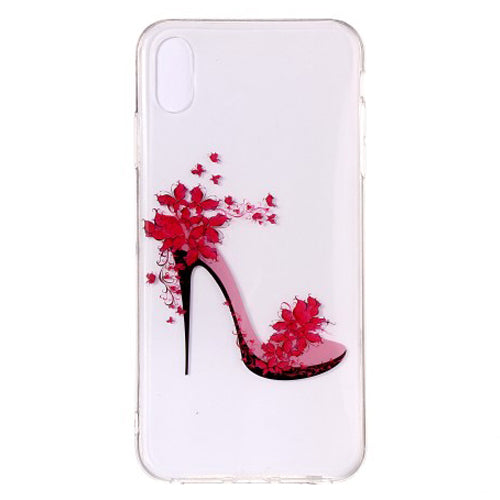 Husa silicon Apple iPhone X / Apple iPhone XS model Pink Heels,Tpu, Antisoc, Viceversa Multicolor