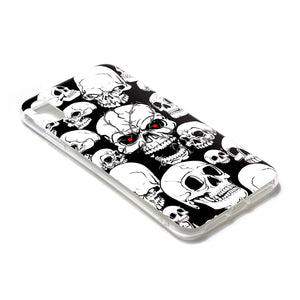 Husa silicon Apple iPhone XR model Model Skull, Fosforescent, Antisoc, TPU, Viceversa