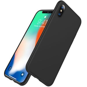 Husa silicon Apple iPhone XS Max, Negru Mat,Tpu, Antisoc, Viceversa