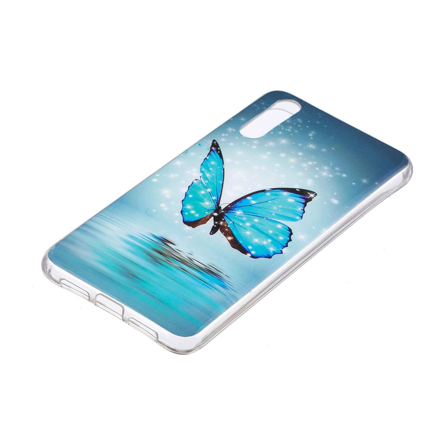 Husa silicon Huawei P20 model Model Butterfly, Fosforescent, Antisoc, TPU, Viceversa Multicolor