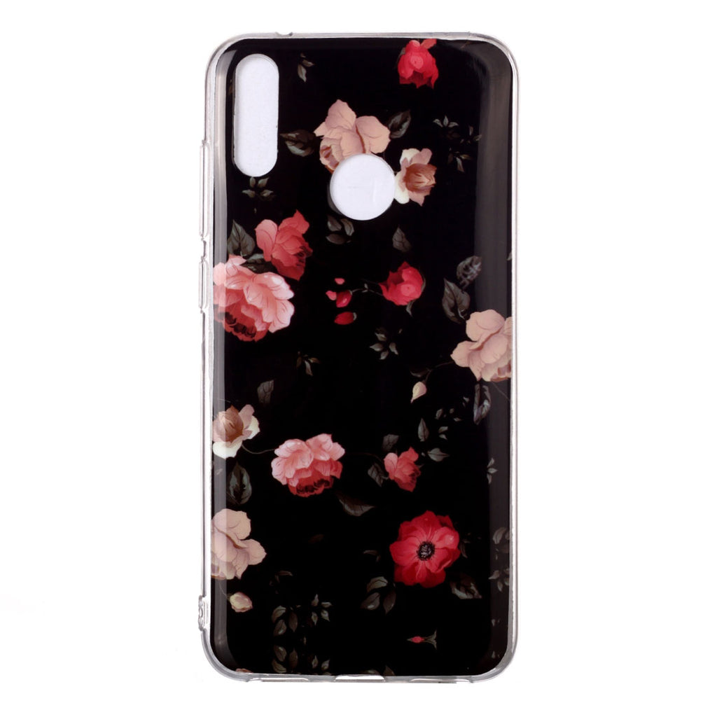 Husa silicon Huawei P40 Lite E Fosforescenta model Blooming Roses, Silicon, TPU Viceversa Multicolor