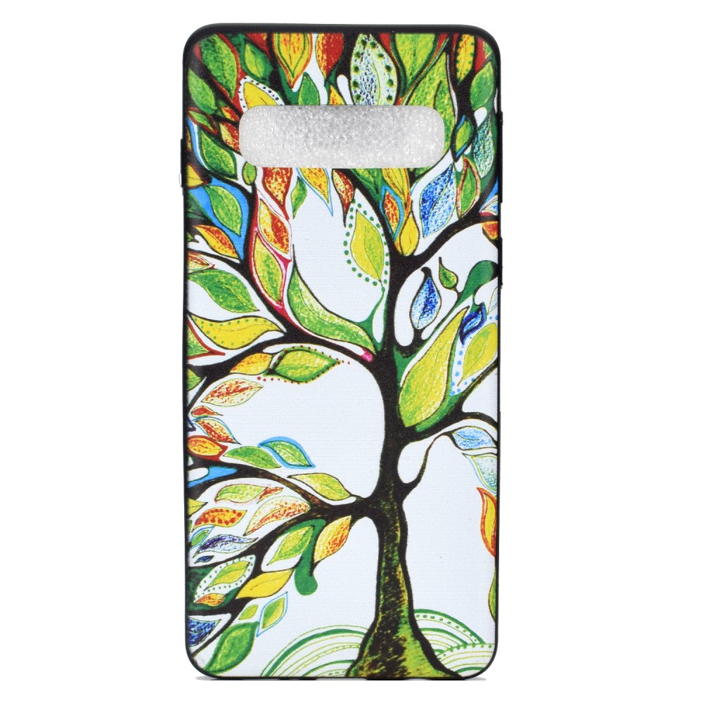 Husa silicon Samsung Galaxy S10 Model Three of Life, Antisoc, TPU, Viceversa Multicolor