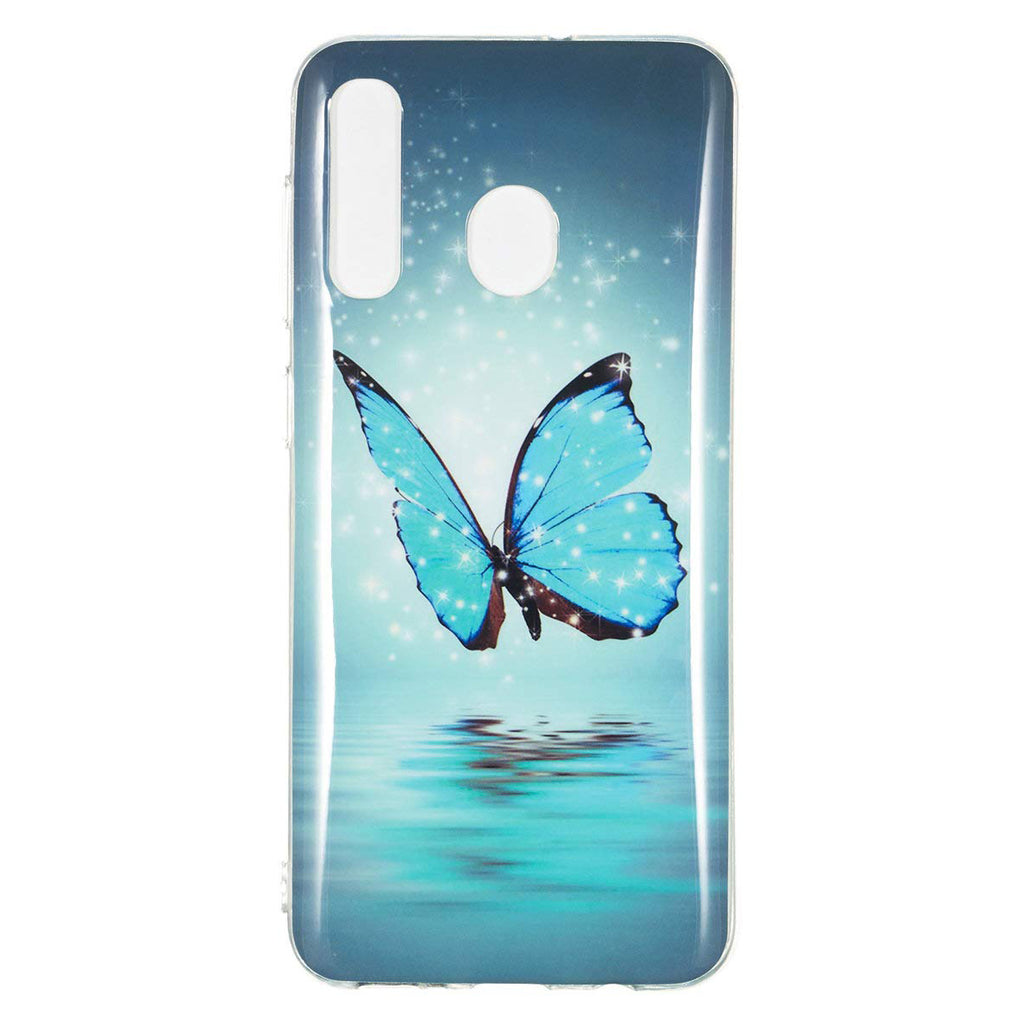 SET 1x Carcasa Husa Samsung Galaxy A20 / Samsung Galaxy A30 Model Butterfly, Fosforescent, Antisoc + 1x Folie sticla securizata Samsung Galaxy A20 / Samsung Galaxy A30 Tempered Glass  Viceversa