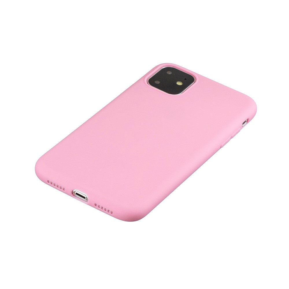 SET 1x Husa silicon Apple iPhone 11 , Pink Mat + 1x Folie sticla securizata Apple iPhone 11 , Antisoc, TPU, Viceversa