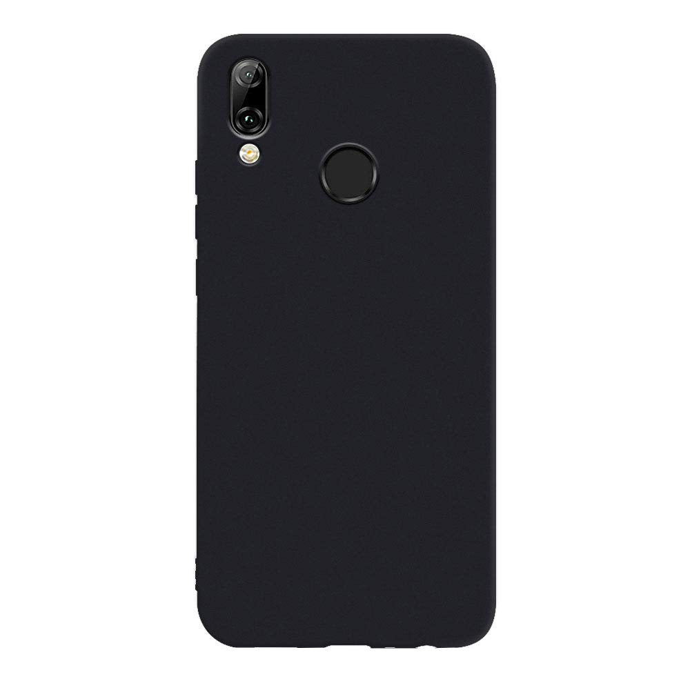 SET 1x Husa silicon Huawei P Smart 2019 Negru + 1x Folie sticla securizata Huawei P Smart 2019, Antisoc, TPU, Viceversa