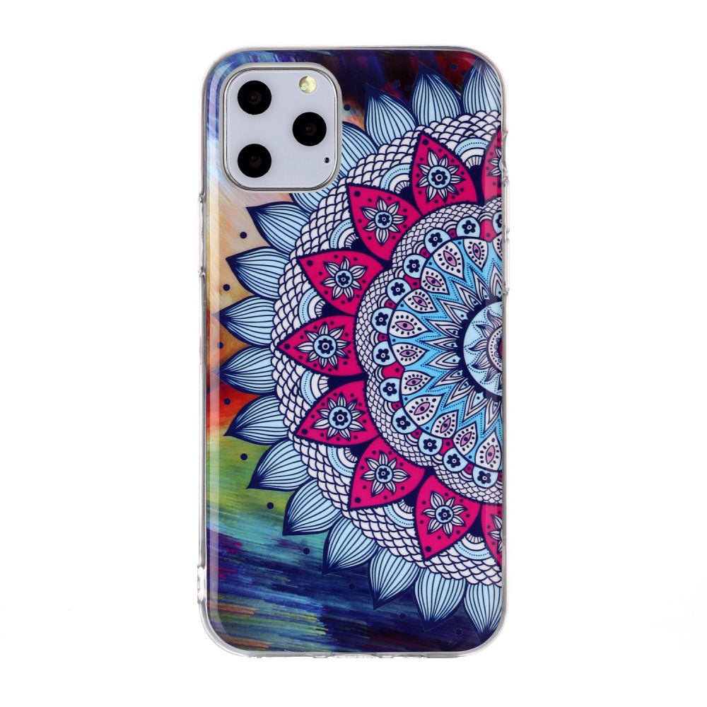 Husa silicon Apple iPhone 11 Pro Fosforescent model Mandala, Silicon, TPU Viceversa