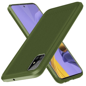 Husa silicon Samsung Galaxy A71 model Carbon, Antisoc, TPU Verde