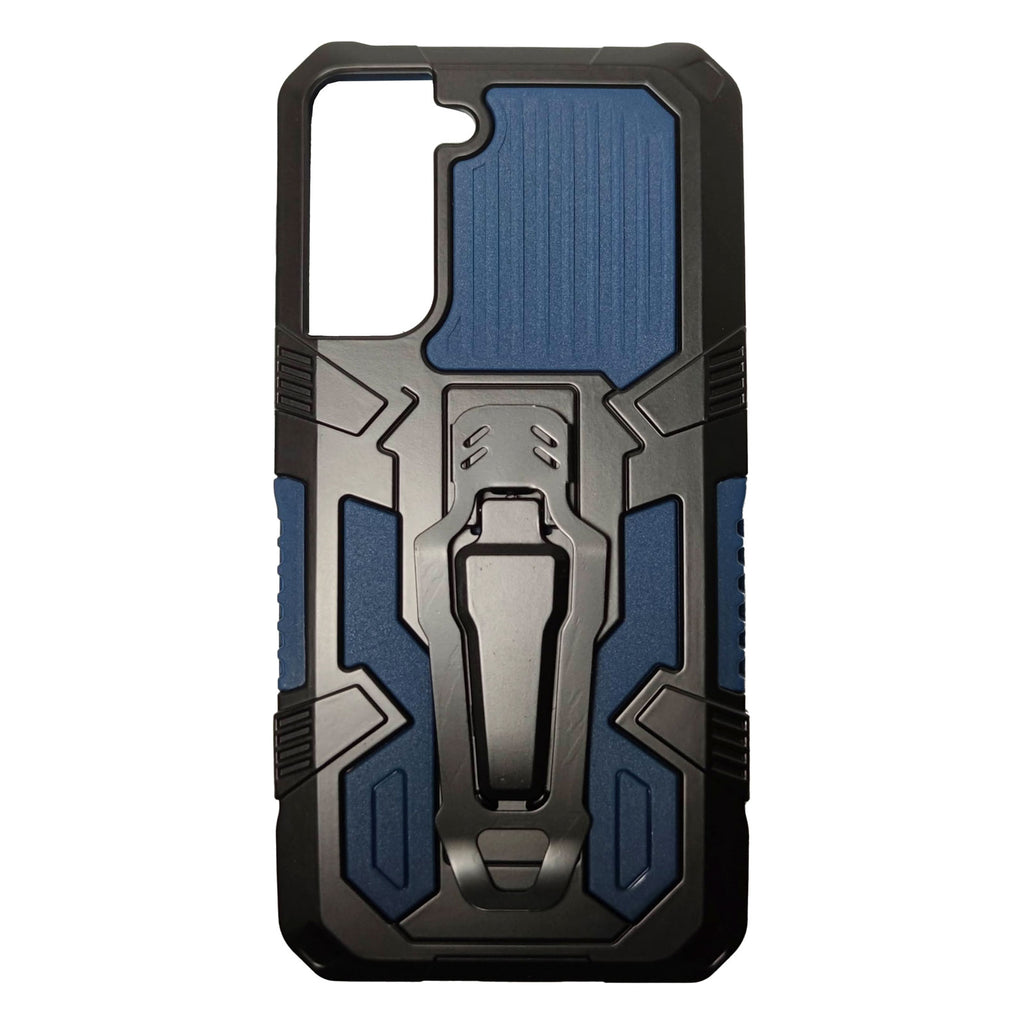 Husa Samsung Galaxy S21 Plus model Dual Thunder Armor cu Suport , Antisoc, Silicon+PC, Viceversa Albastru