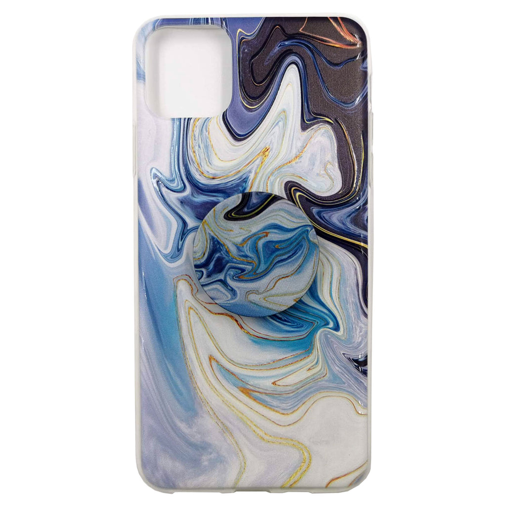 Husa silicon Apple iPhone 11 Pro Max model Pop Marble Watercolor Suport Grip, Antisoc, TPU Viceversa