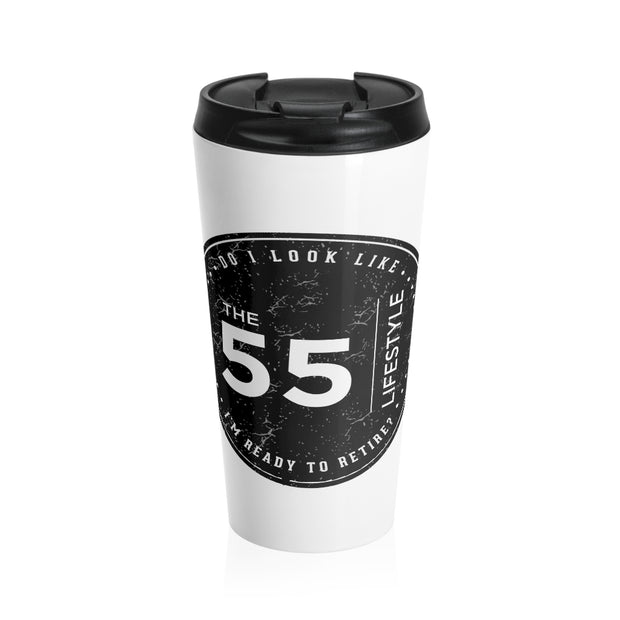 The 55 Lifestyle Stainless Steel Travel Mug