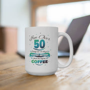 It's Illegal Before Coffee - Funny White Ceramic Mug
