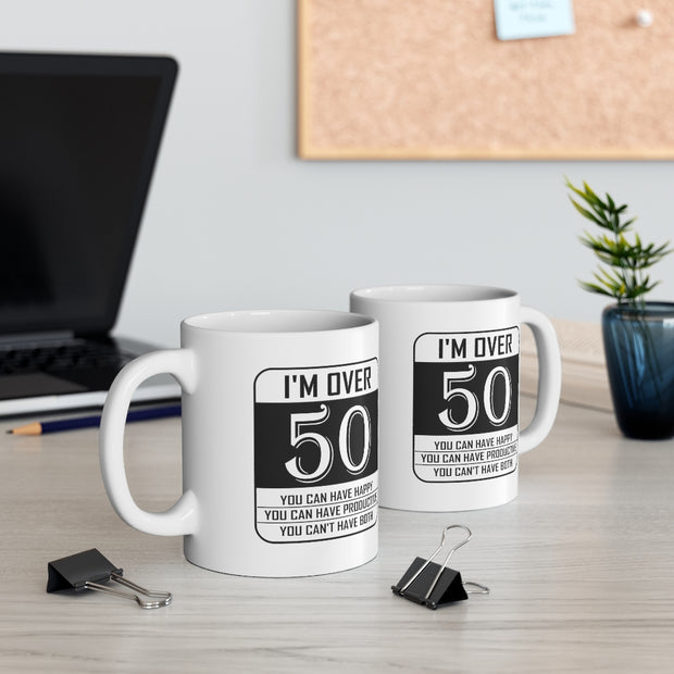 Happy or Productive Ceramic Coffee Mug