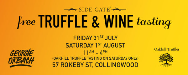 Free wine and truffle tasting