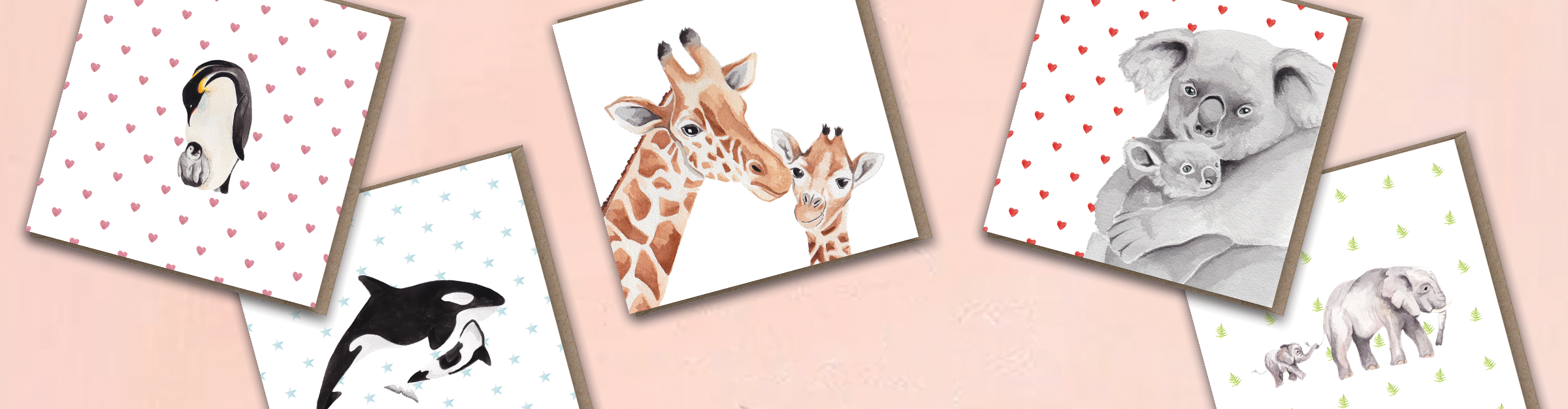 Collection of Mother's Day greeting cards by lil wabbit