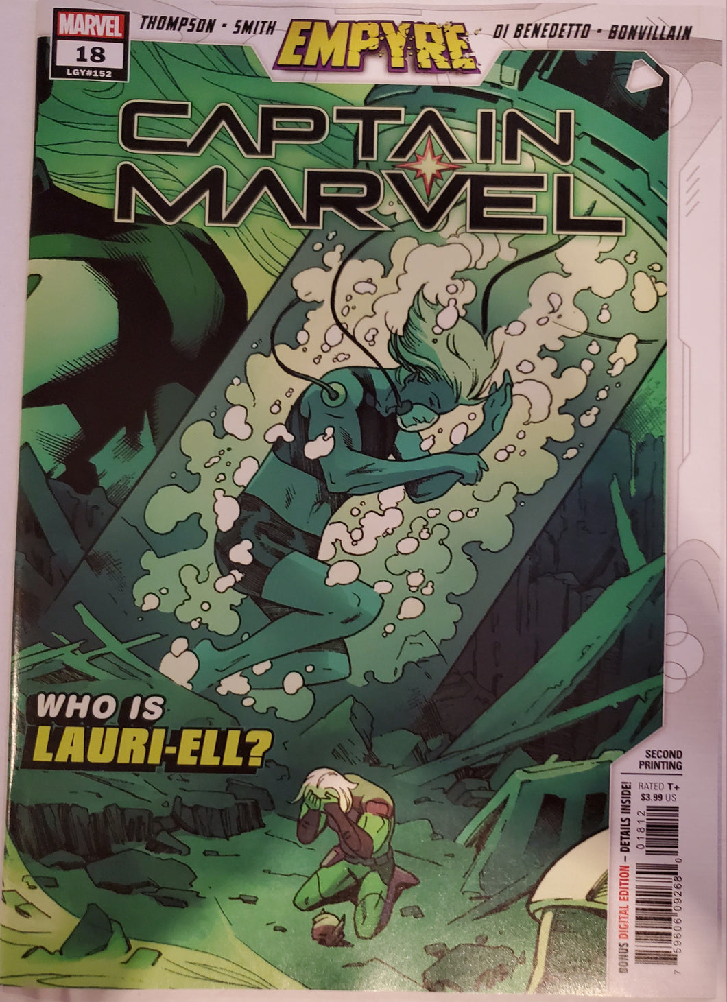 MARVEL COMICS CAPTAIN MARVEL 18 2nd PRINT VARIANT COVER 1ST APPEARANCE LAURI-ELL