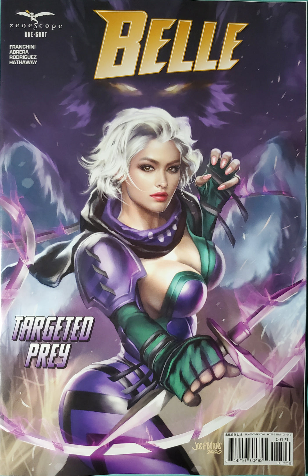 🔥 BELLE TARGETED PREY ONE SHOT Cover B Josh Burns NM Zenescope Gemini