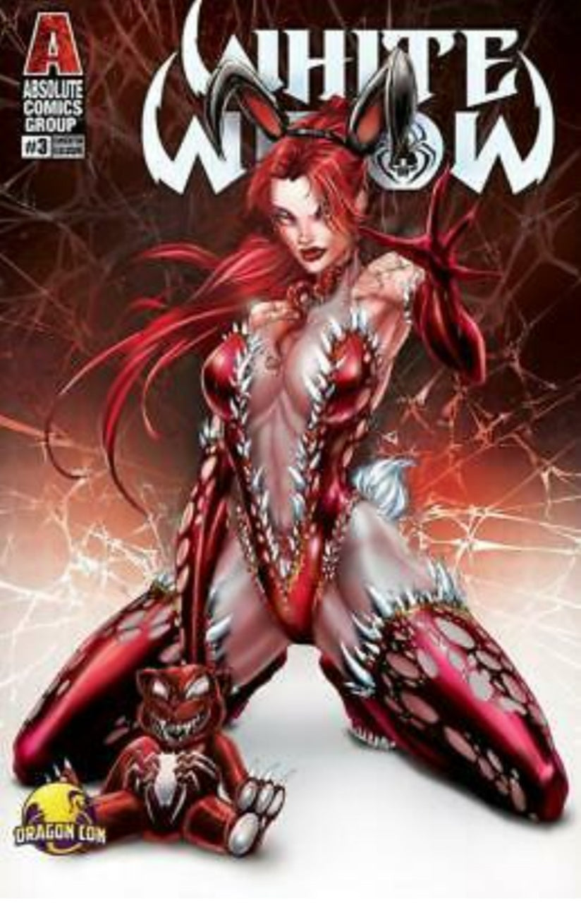 WHITE WIDOW # 3 SIGNED BY JAMIE TYNDALL DRAGON CON VENOM BLOOD BUNNY VARIANT CVR SIGNED NM