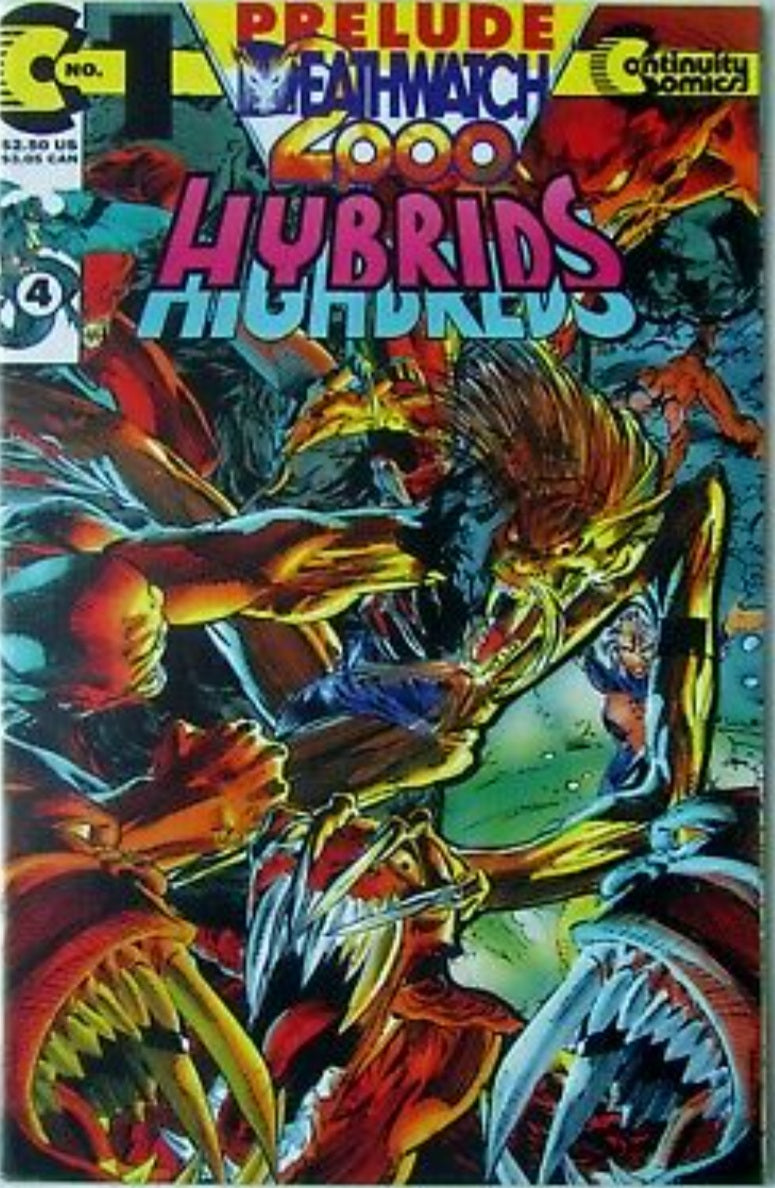 HYBRIDS #1 (Prelude Deathwatch 2000 #4) Die-cut sealed polybag Continuity Comics 1993