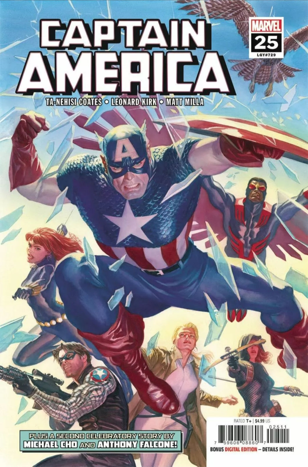 Captain America #25 Marvel Cover A Alex Ross, 1st Evans