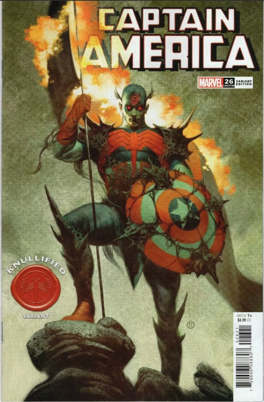CAPTAIN AMERICA #26 KNULLIFIED VARIANT TEDESCO KING IN BLACK VENOM FALCON DISNEY