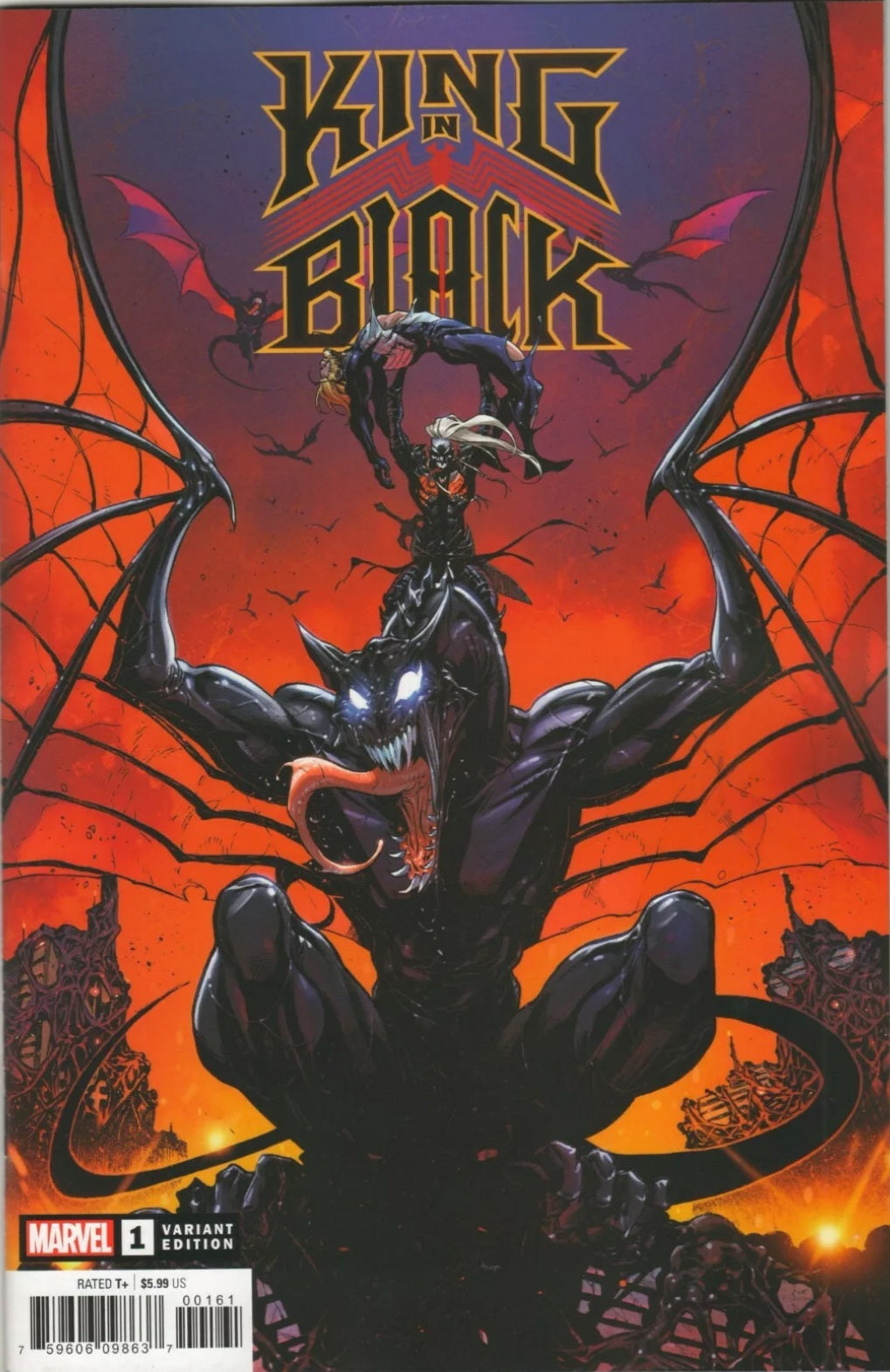 KING IN BLACK #1 1:50 Iban Coello DRAGON VARIANT VENOM DONNY CATES MARVEL KNUL