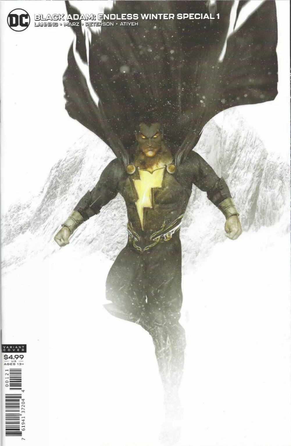 BLACK ADAM ENDLESS WINTER SPECIAL #1 (ONE SHOT) CVR B BOSSLOGIC CARD STOCK VAR