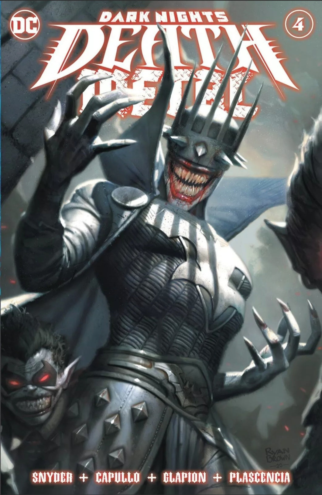 DARK NIGHTS: DEATH METAL #4 (RYAN BROWN EXCLUSIVE TRADE VARIANT)