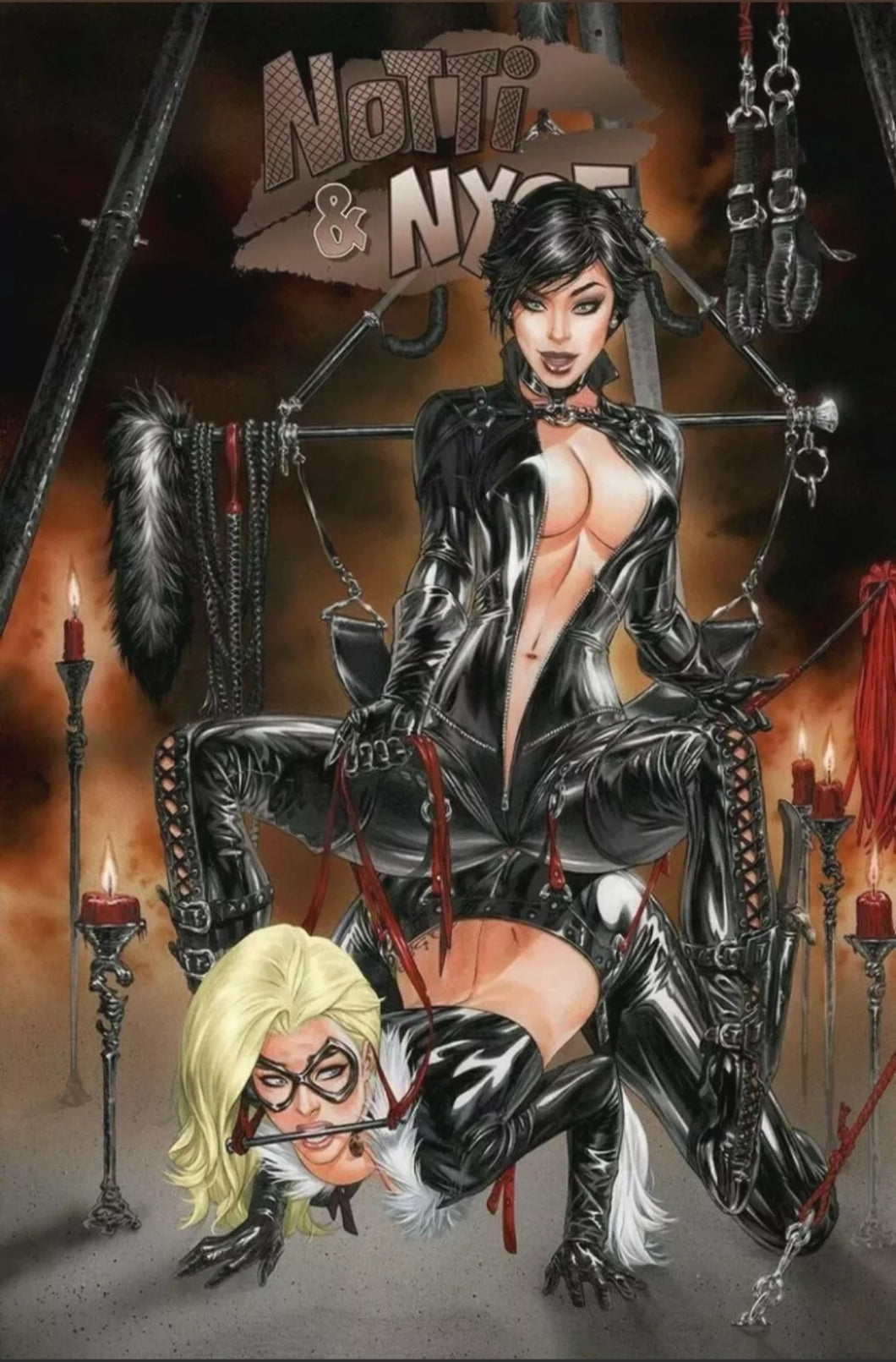 💋 Notti & Nyce - EBAS - Catfight  - Ltd To 500 - Trade Dress Catwoman, Black Cat