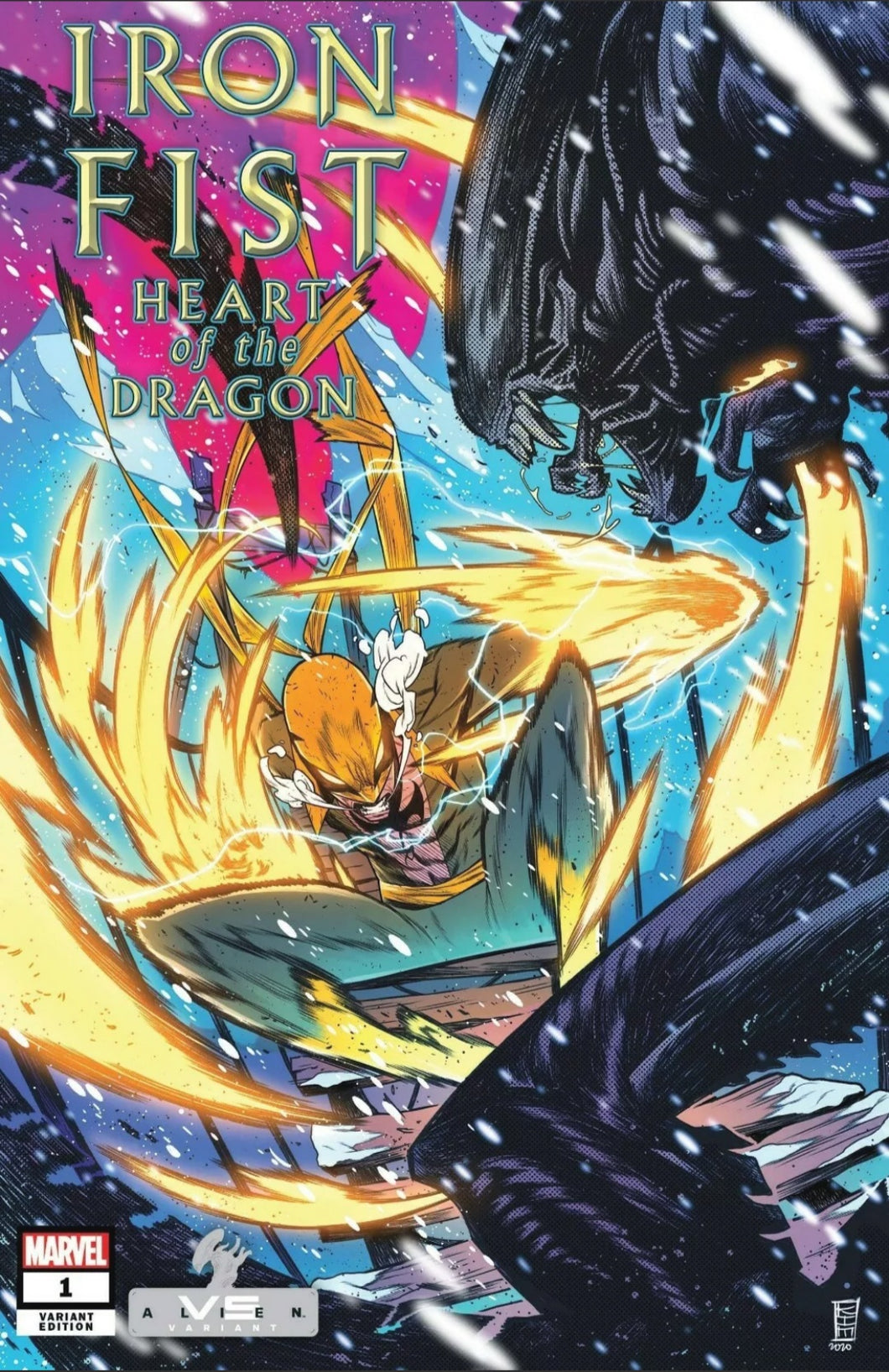 Iron Fist Heart of the Dragon #1 Jacinto vs Alien Variant