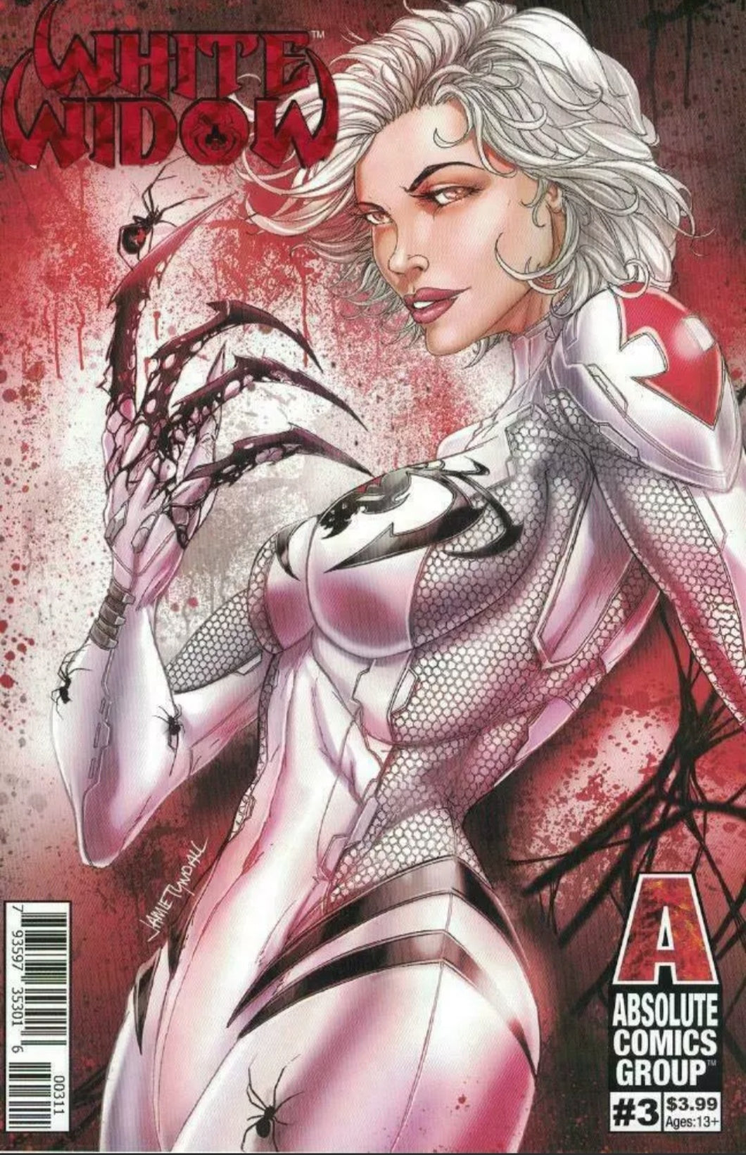 💋 White Widow #3 Claws Out Retail by Jamie Tyndall