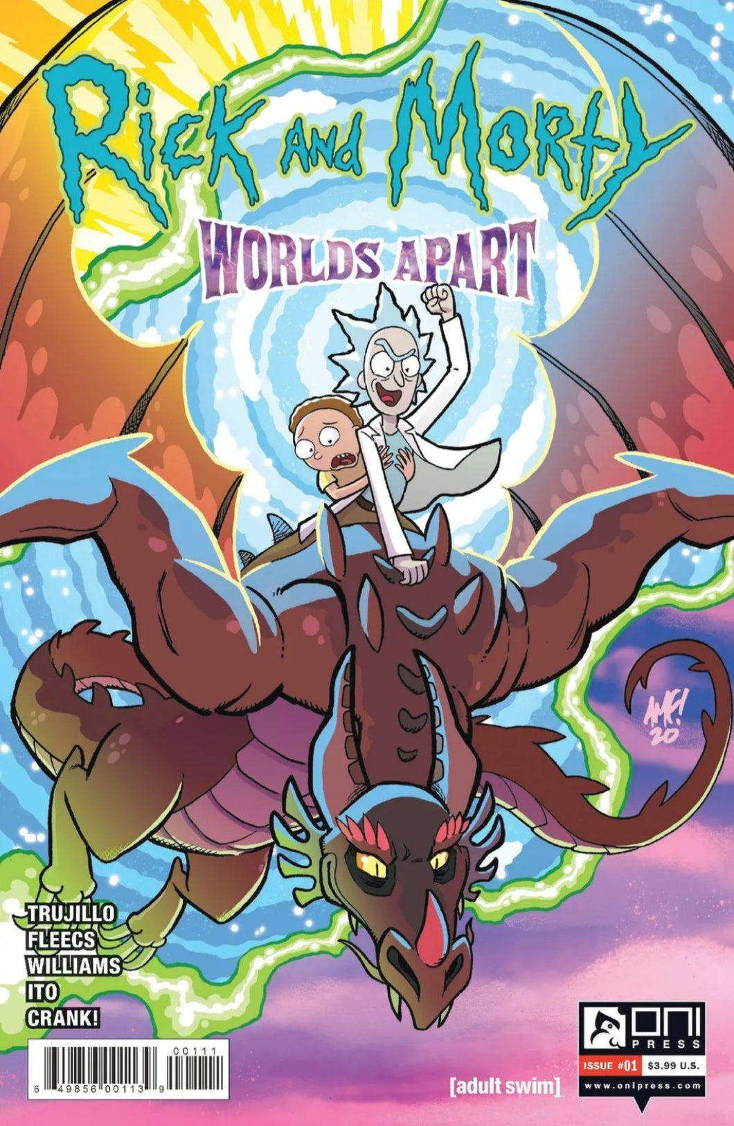 RICK AND MORTY WORLDS APART #1 CVR A FLEECS